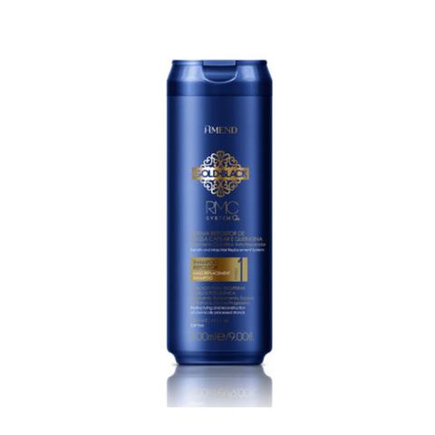 AMEND | Шампунь с кератином для восстановления поврежденных волос / Gold Black RMC System Q+, (300 мл)