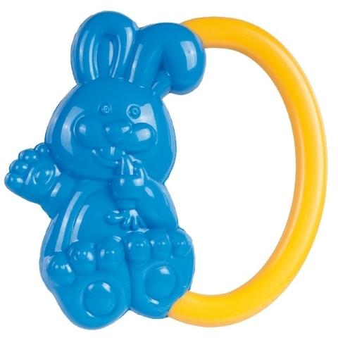 Погремушка - кролик, 0+ (синий)