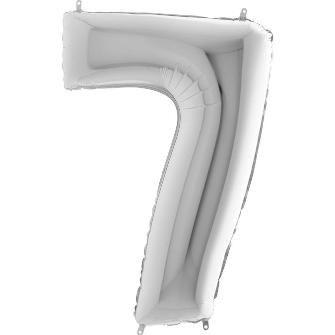 Серебряная цифра 7