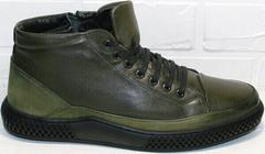 Теплые кеды ботинки мужские Luciano Bellini BC2803 TL Khaki.
