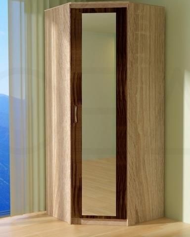 Шкаф угловой ПРАГА с зеркалом правый /903*2200*903/