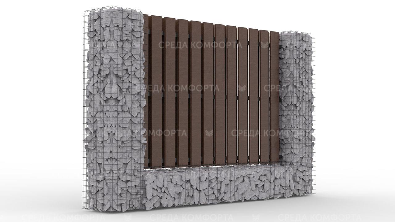 Деревянный забор ZBR0100