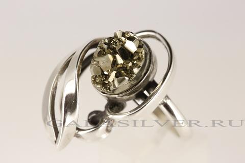 Кольцо с пиритом из серебра 925