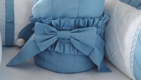 Бант на одеяло- конверт Сказка, голубой