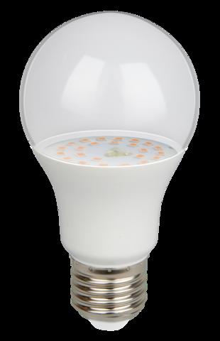 Лампа светодиодная для растений PPG A60 AGRO 9W Clear Е27 IP20