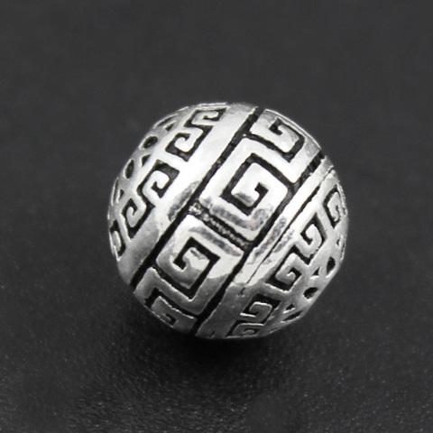 Бусина Греческая 10 мм серебро 925