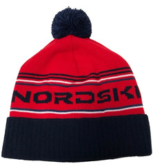 Шапка теплая Nordski Stripe Red