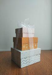 Набор подарочных коробок, Новогоднее ассорти 12 х 12 х 6.5 см, 1 набор.