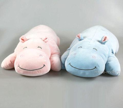 Мягкая игрушка Бегемотик лежащий 60 см (Leosco)
