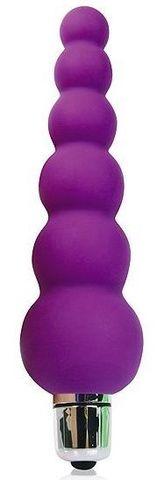 Фиолетовый анальный вибромассажер-елочка - 12 см.