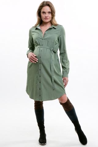 Платье для беременных 10785 зеленый