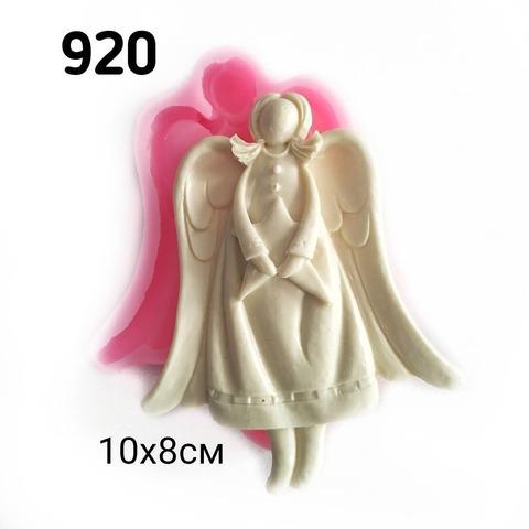 0920 Молд силиконовый. Ангел со звездой.
