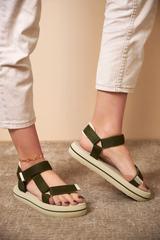 Qadın üçün xaki sandal