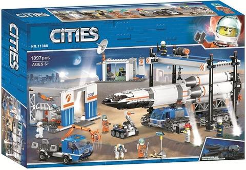 Конструктор 11388 Площадка для сборки и транспорт для перевозки ракеты