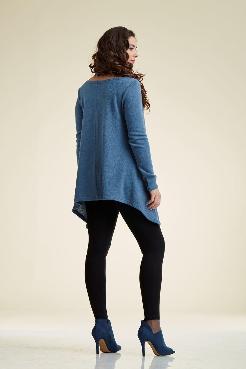 Туника для беременных 00063 синий меланж