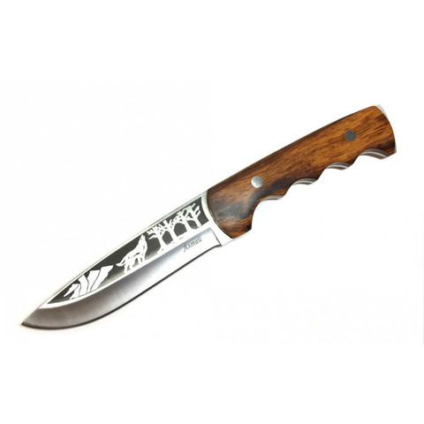 Охотничий цельнометаллический нож Алтай, 65х13, Витязь