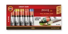 Краски масляные художественные PRAGUE LANDSCAPE в тюбиках 40мл, 10 цветов