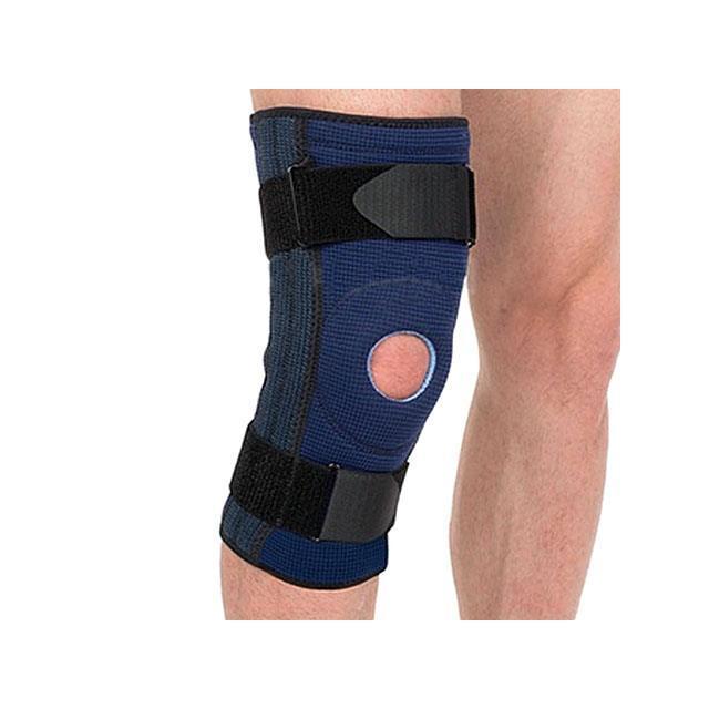"""Бандаж на коленный сустав ТМ """"Evolution"""", неразъемный с 4-мя пружинными ребрами"""