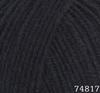 Пряжа LANA LUX 74817 (Черный)
