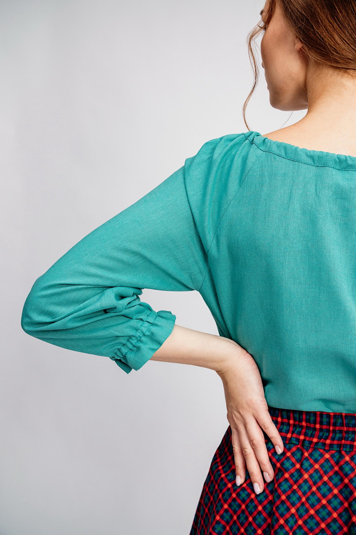 Льняная блуза большой размер