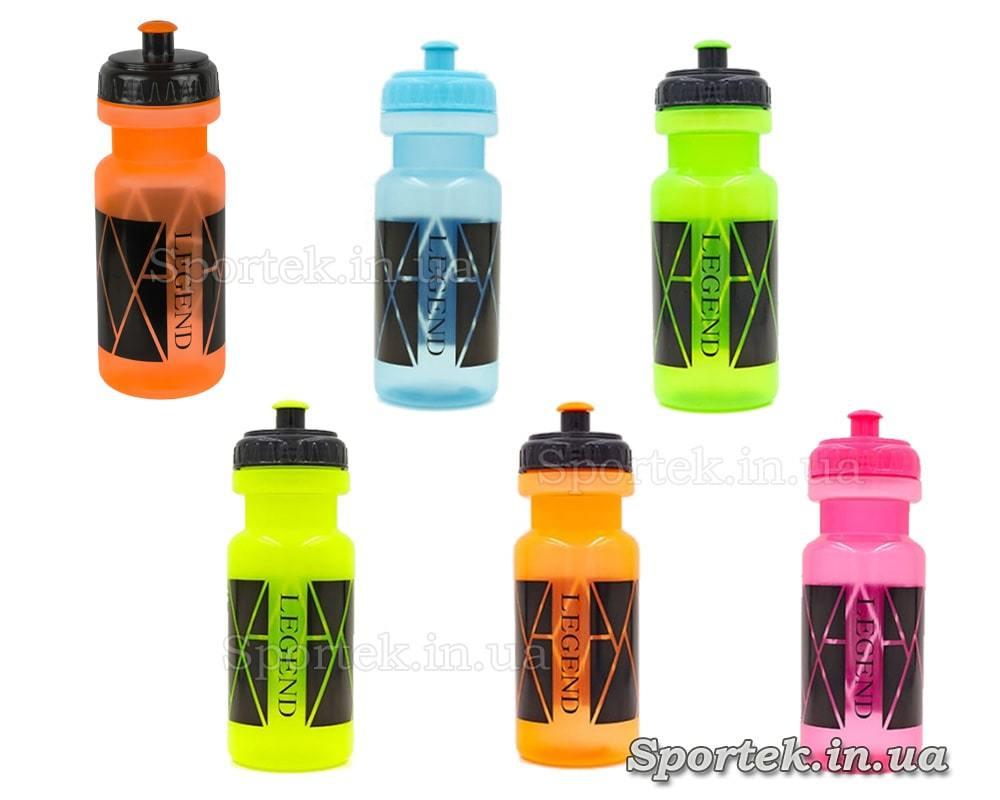 Варианты цветов бутылки для воды и напитков LEGEND FL-5961 500 мл