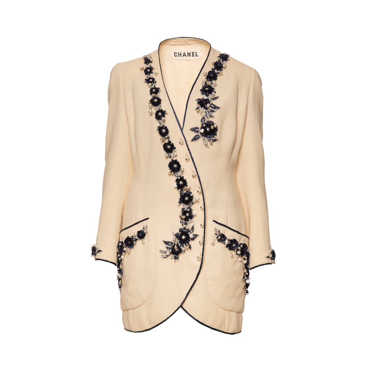 Chanel 1960s Haute Couture jacket with embroidery , size 42