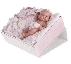 Munecas Antonio Juan Кукла-младенец Карла, 26 см (в чемодане) (4068P)