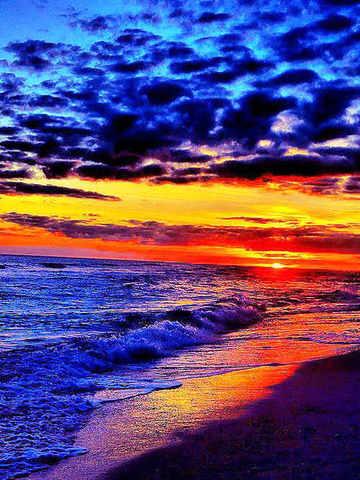 Алмазная Мозаика 30x40 Берег океана на закате