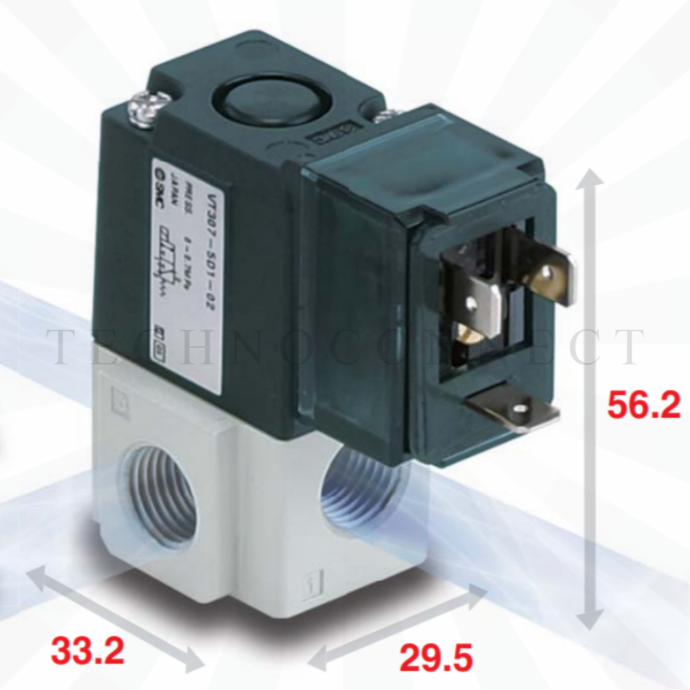 VT307-4DO1-02F-Q   3/2-Пневмораспределитель, G1/4