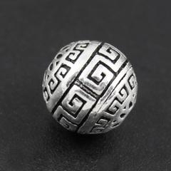 Бусина Греческая 12 мм серебро 925