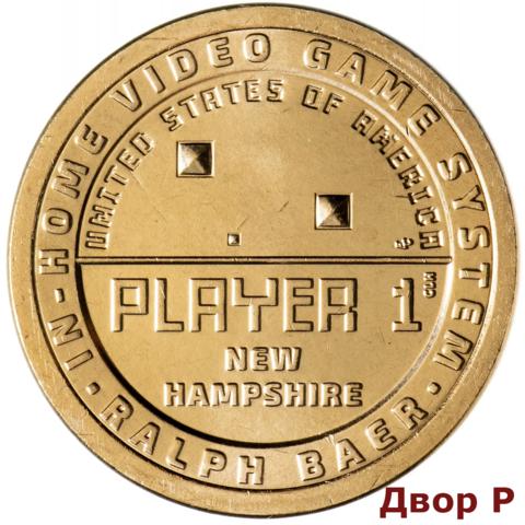 1 доллар Нью-Гэмпшир. Ральф Баер, Игровая приставка Американские инновации  США 2021 год. Двор P