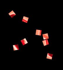Конфетти металлизированное, Квадрат, Красное, 6*6мм, / 100г. /