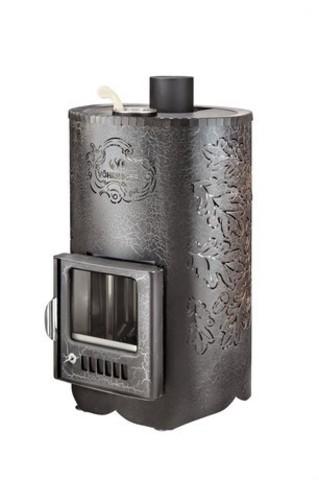 Дровяная банная печь Ферингер УЮТ-25 в кожухе ДУБ паровая с закрытой каменкой