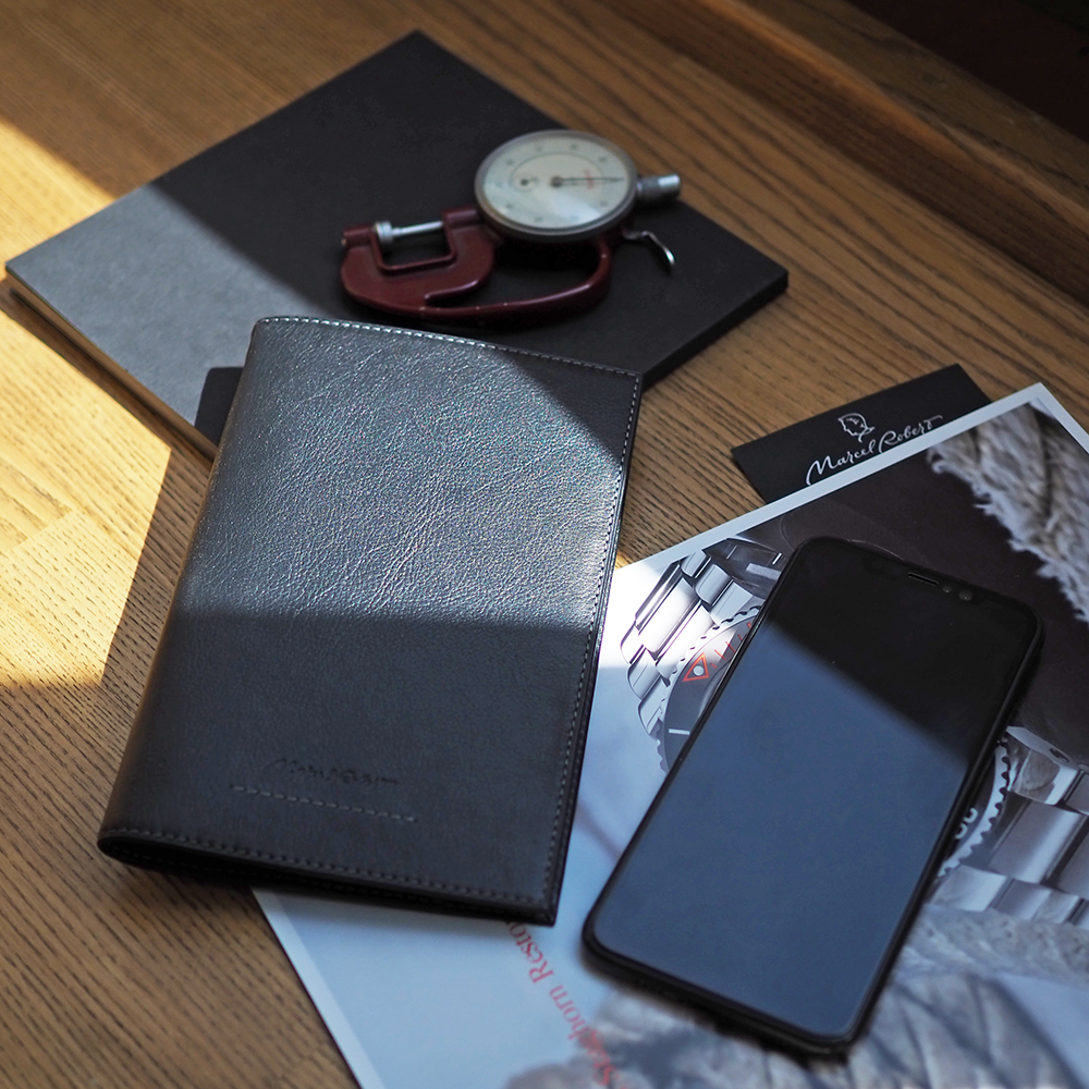 Длинный кошелек Secret+ Easy из натуральной кожи теленка, черного цвета