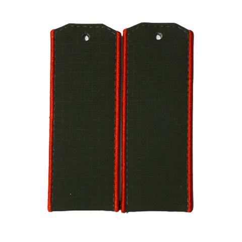 Погоны оливковые с красным кантом (рип-стоп,на пластике)