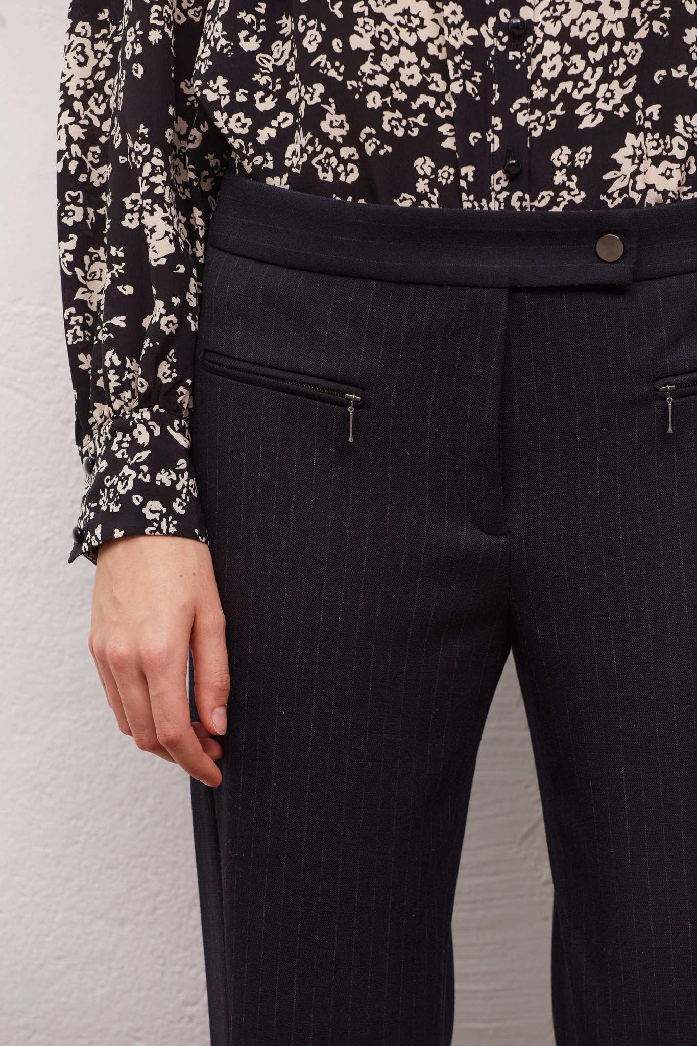 EMIL - Прямые брюки с карманами на молнии