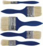 Набор кистей флейцевых.  Для работы со всеми видами лакокрасочных материалов. Натуральная светлая щетина, деревянная ручка.