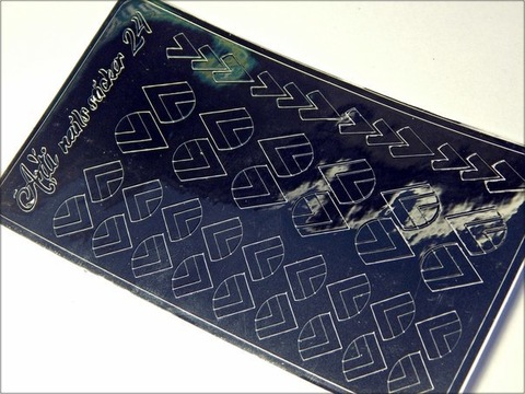 Металлизированные наклейки Arti nails Stiker цвет серебро №24 купить за 100руб