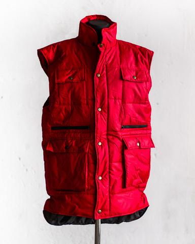 Жилет Garment Factory утеплений стьобаний на блискавці подовжений унісекс червоний 48 розмір