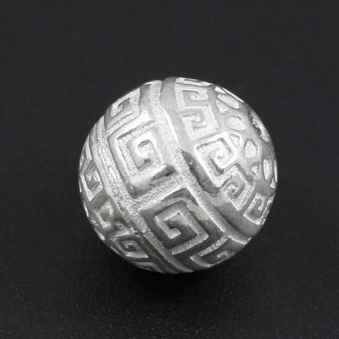 Бусина Греческая 13,5 мм серебро 925