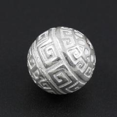 Бусина Греческая 10 мм светлое серебро 925