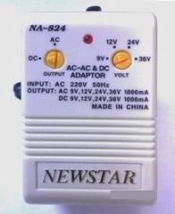 Блок питания Newstar NA-824 (9В, 12В, 24В, 36В - 1000mA)