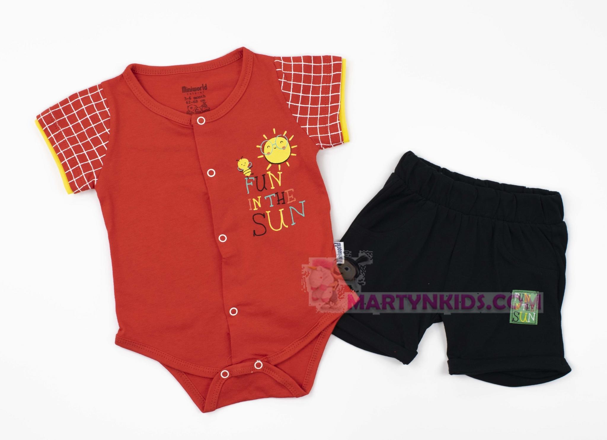 3551  костюм боди + шорты Солнышко