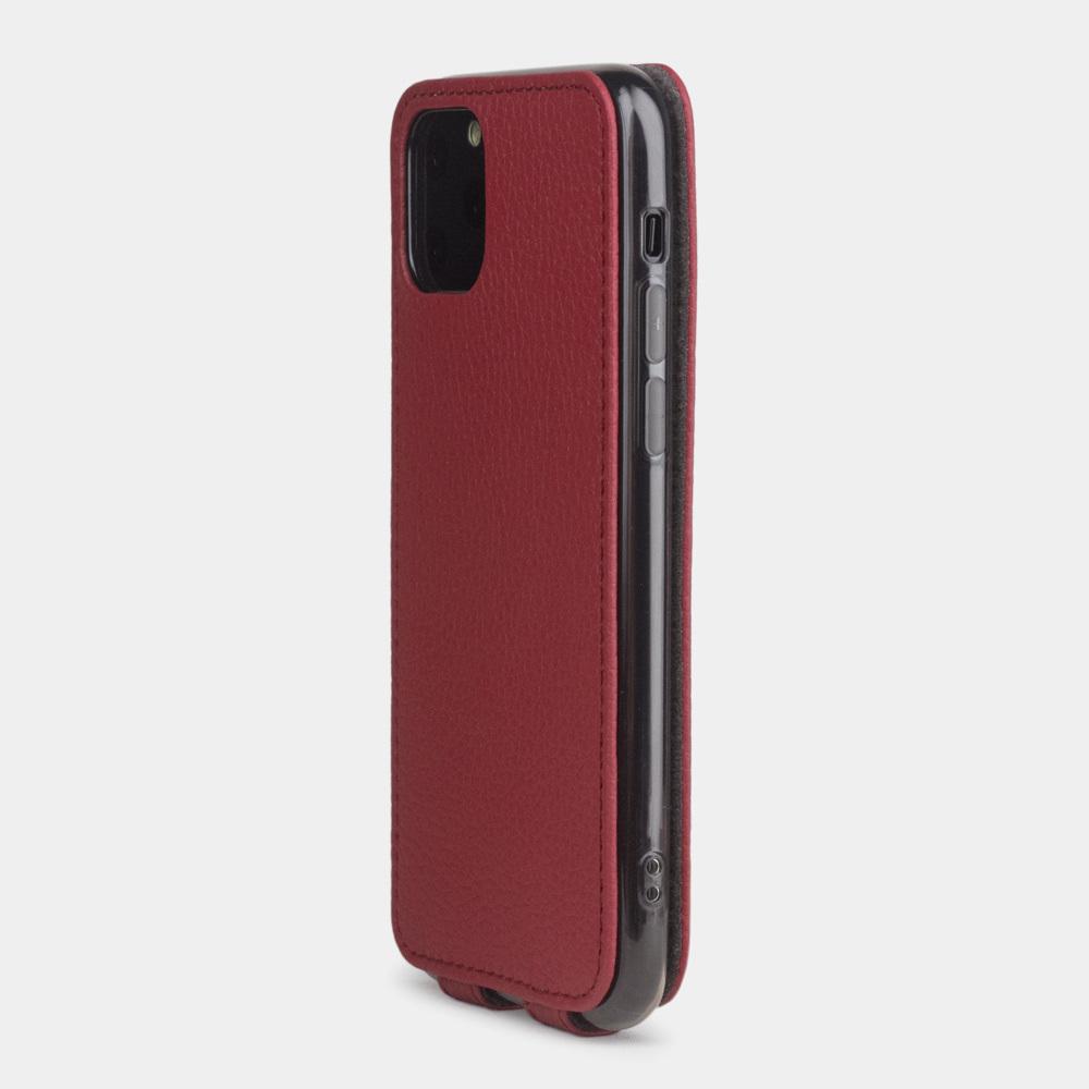 Чехол для iPhone 11 Pro Max из натуральной кожи теленка, вишневого цвета