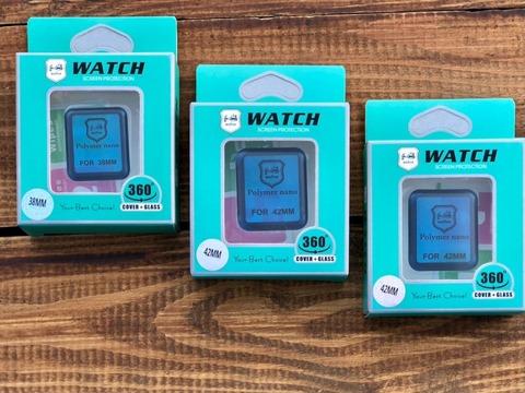 Стекло защитное 3D Full Polymer nano Apple watch 42mm /black/