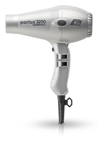 Фен Parlux 3200 Compact, 1900 Вт, 2 насадки, серебристый