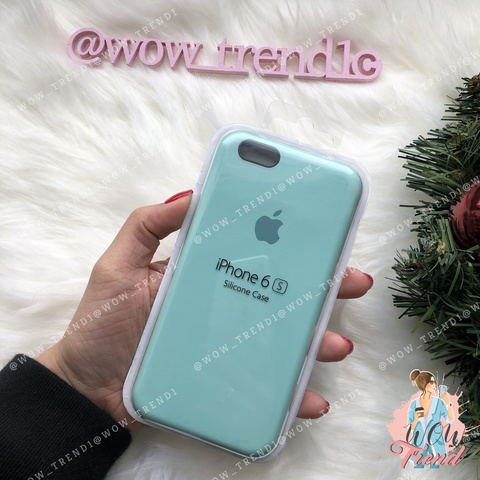 Чехол iPhone 6/6s Silicone Case /marine green/ нежно-мятный 1:1