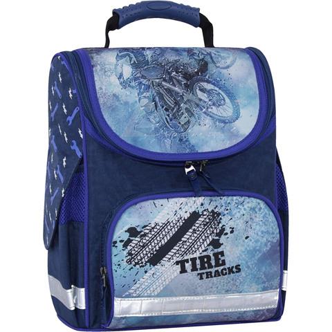 Рюкзак школьный каркасный с фонариками Bagland Успех 12 л. синий 534 (00551703)
