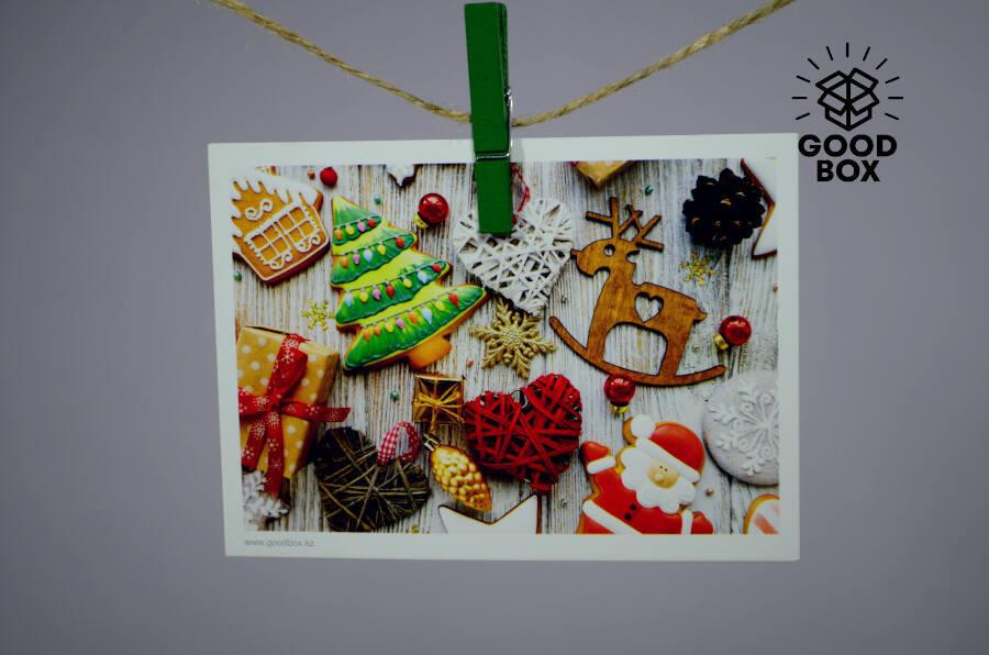 Новогодние открытки с игрушками купить в Алматы
