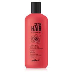 """Шампунь для волос с малиновым уксусом """"Волосы мечты"""" (380 мл SATIN HAIR.Атласные волосы)"""